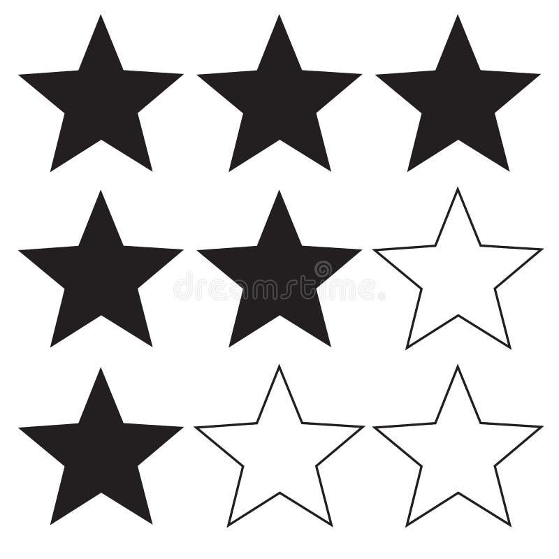 Gwiazdowa ratingowa ikona na białym tle Mieszkanie styl gwiazdowa ikona dla twój strona internetowa projekta, logo, app, UI równy ilustracja wektor