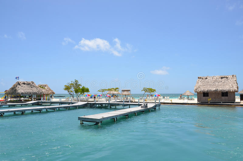 Gwiazdowa Rybia wyspa, Belize zdjęcie stock