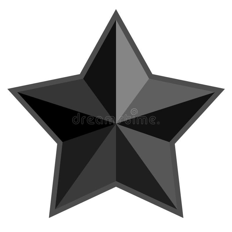 Gwiazdowa symbol ikona - czarny kolor, odosobniony ilustracji