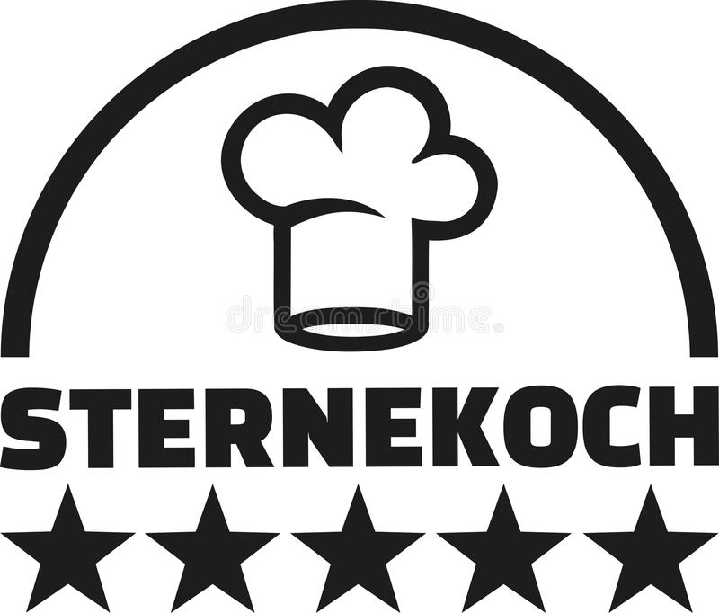 Gwiazdowa szefa kuchni smakosza niemiec ilustracja wektor