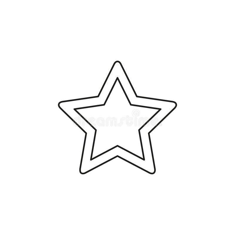 Gwiazdowa wektorowa ikona royalty ilustracja