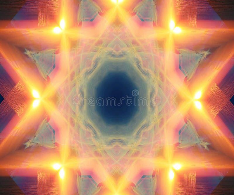 Gwiazdowa wybuch pomarańcze, kolor żółty i obraz royalty free