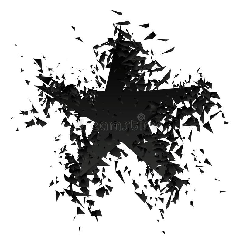 Gwiazdowa wybuchu wektoru ilustracja ilustracja wektor