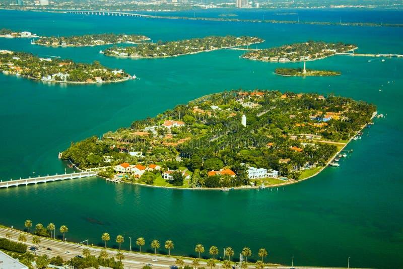 Gwiazdowa wyspa w Miami obraz stock