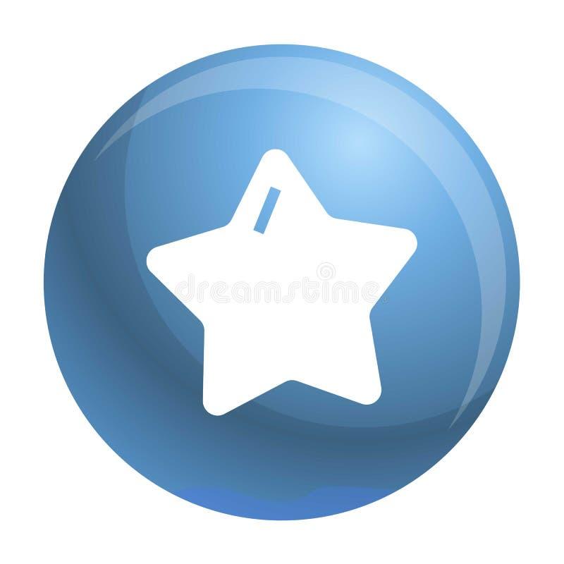 Gwiazdowa xmas ikona, prosty styl ilustracja wektor