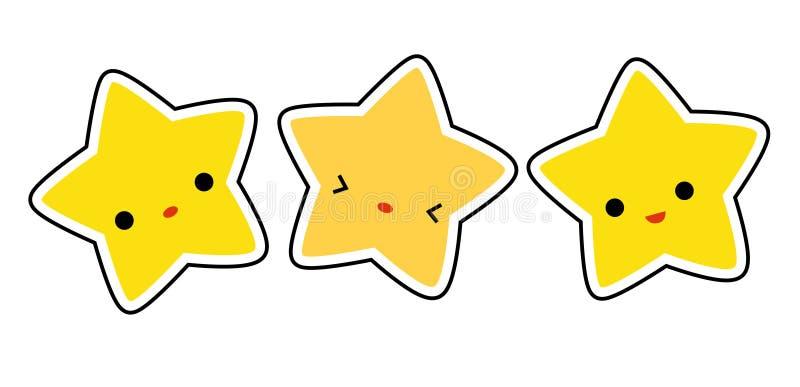 gwiazdowe gwiazdy royalty ilustracja