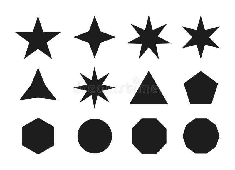 Gwiazdowe ikony Wektorowy ikony gwiazdy set royalty ilustracja