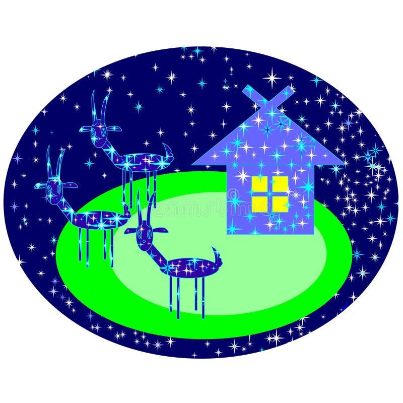 Gwiazdowe kózki ilustracja wektor