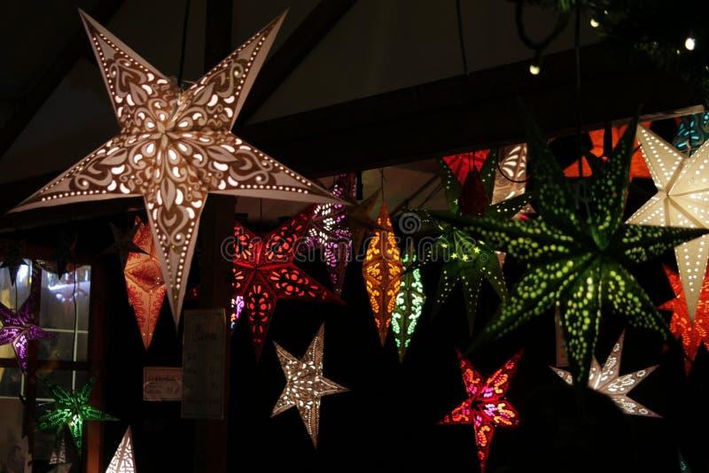 Gwiazdowe lampy fotografia stock