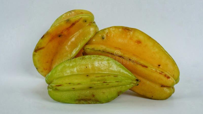 Gwiazdowe owoc Grupa dojrzały Starfruit obraz stock