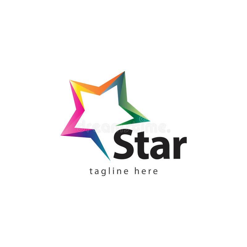 Gwiazdowego firma logo projekta Wektorowa ilustracja ilustracji