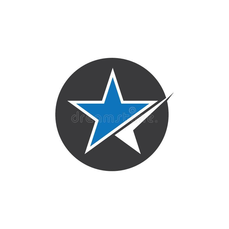 Gwiazdowego loga szablonu ikony wektorowa ilustracja ilustracji