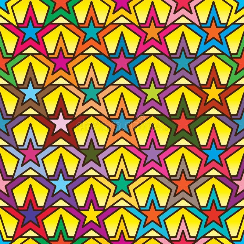 Gwiazdowej dwoistej symetrii bezszwowy wzór ilustracja wektor