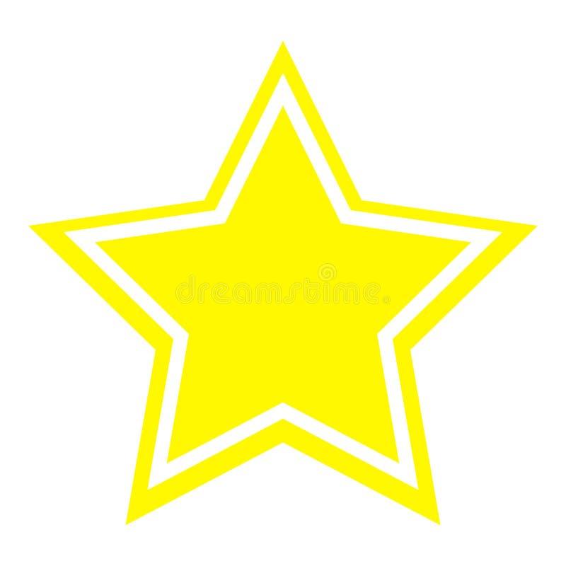 Gwiazdowej ikony żółty kolor ilustracji
