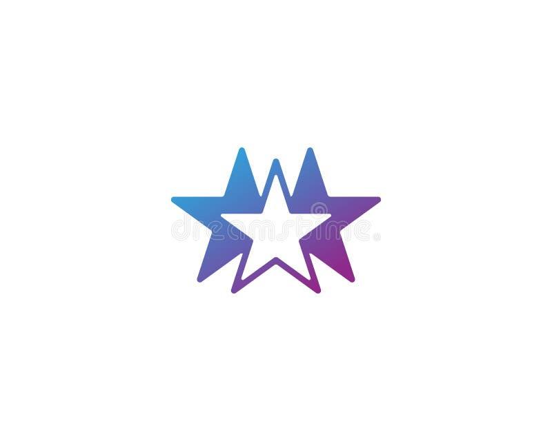 Gwiazdowej loga szablonu wektorowej ikony ilustracyjny projekt royalty ilustracja