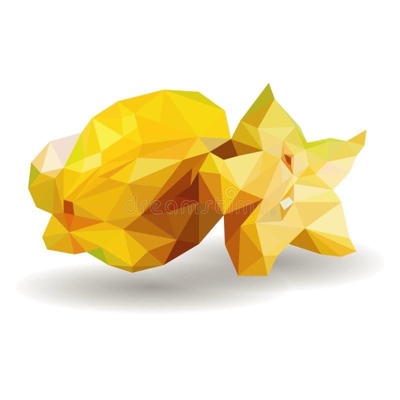 Gwiazdowej owoc carambola Kreskówki wektorowej ikony o bielu odosobniony tło Serie jedzenie, napój i składniki dla gotować royalty ilustracja