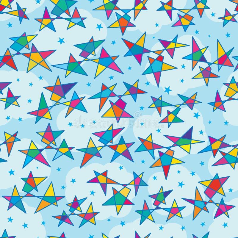 Gwiazdowej rodziny grupy bezszwowy wzór ilustracja wektor