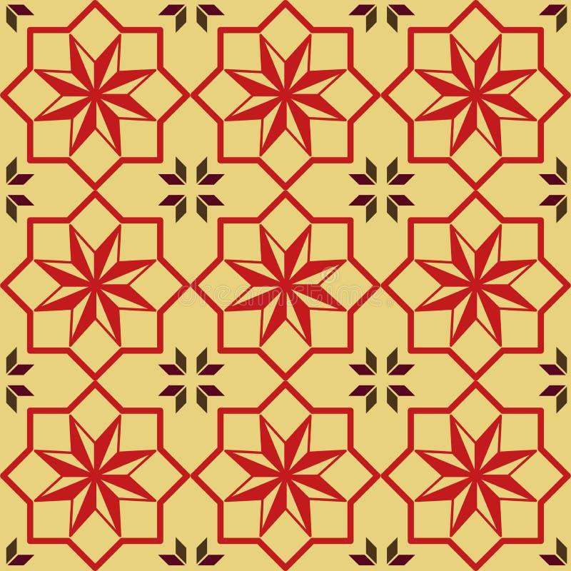 Gwiazdowej tekstury czerwony bezszwowy wzór tkanina, tapety lub papiery - rocznika, ilustracji