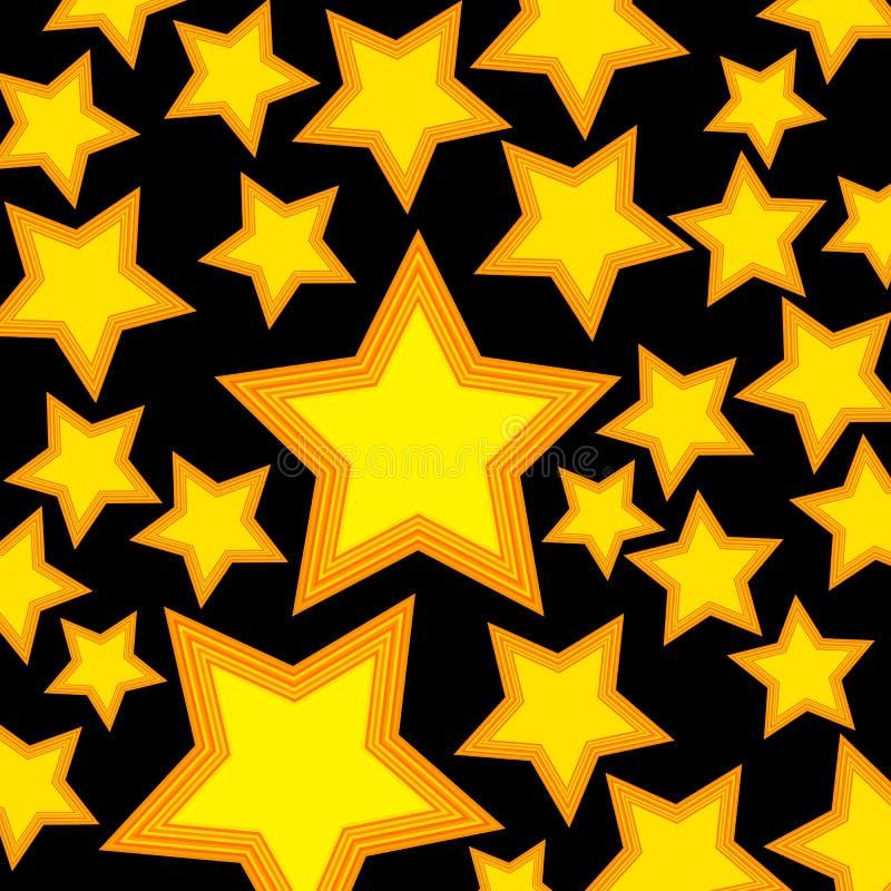 Gwiazdowej wektorowej symbol ikony prosty złocisty kształt ilustracji