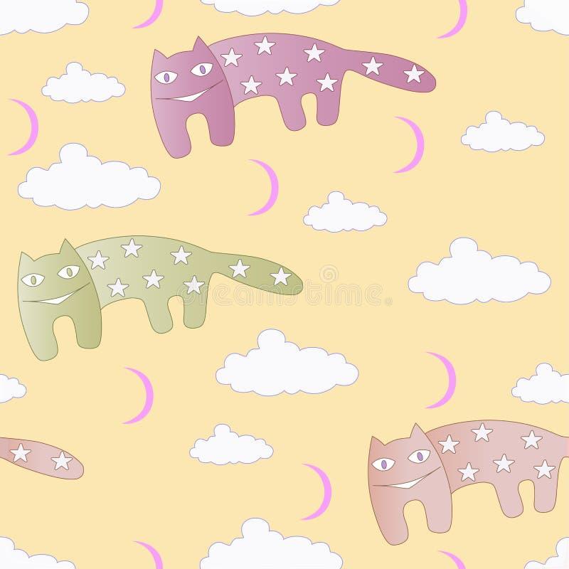 Gwiazdowi koty ilustracja wektor