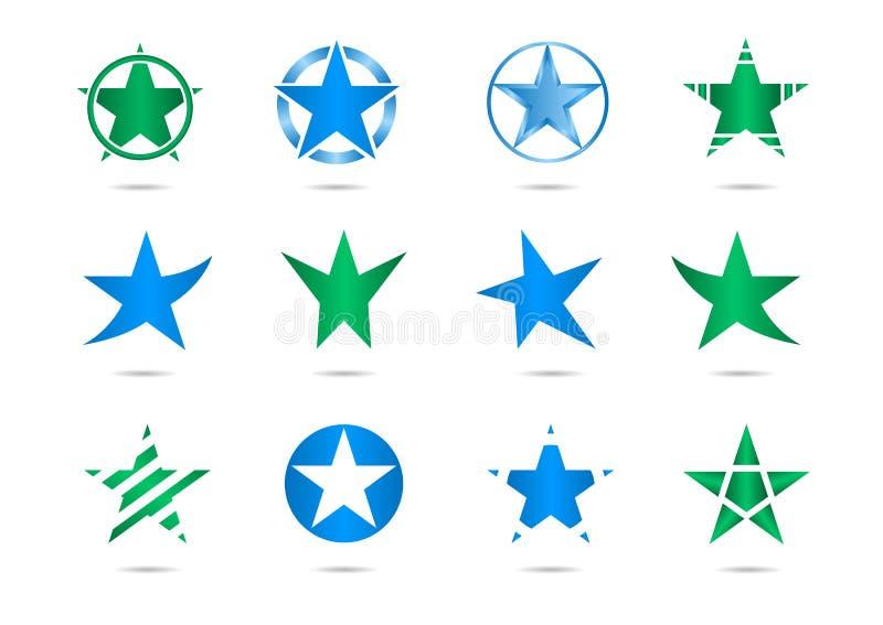 Gwiazdowi wektorowi logowie ilustracji