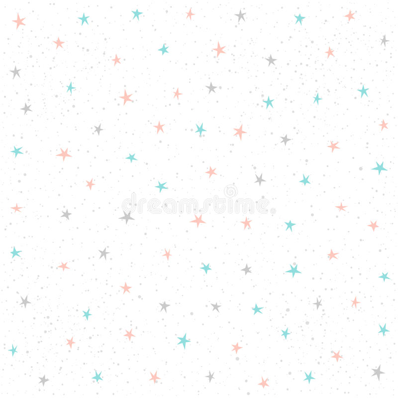 Gwiazdowy Bezszwowy Deseniowy tło royalty ilustracja