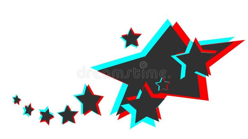 Gwiazdowy 3D royalty ilustracja