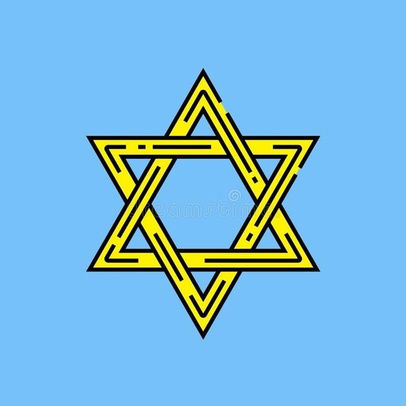 gwiazdowy David symbol royalty ilustracja