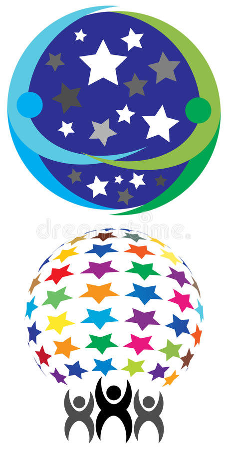 Gwiazdowy drużynowy logo royalty ilustracja