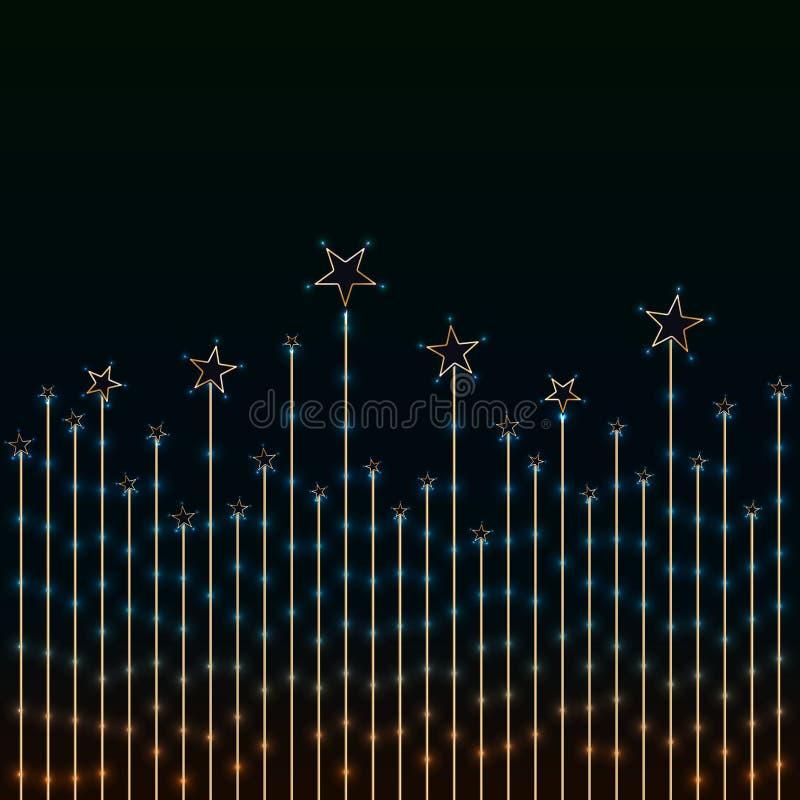 Gwiazdowy granicy światło goldern ilustracji