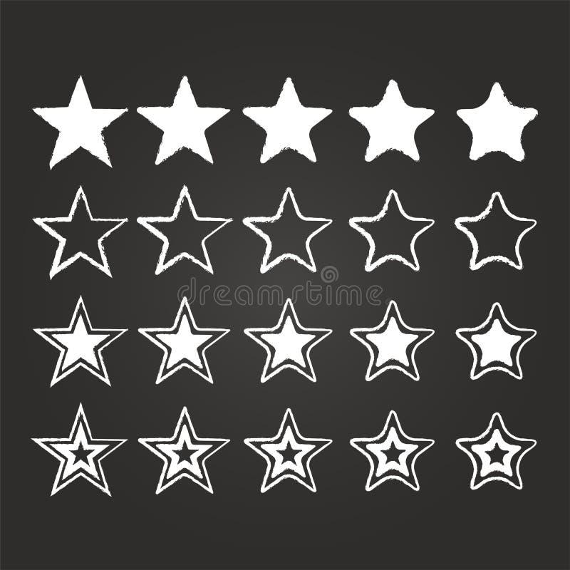 Gwiazdowy ikona set ilustracja wektor