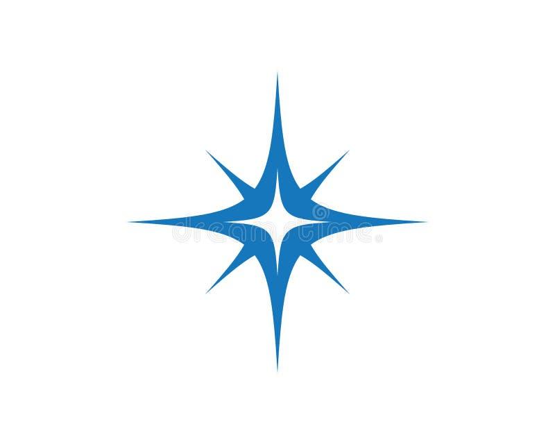 Gwiazdowy ikona szablon ilustracji