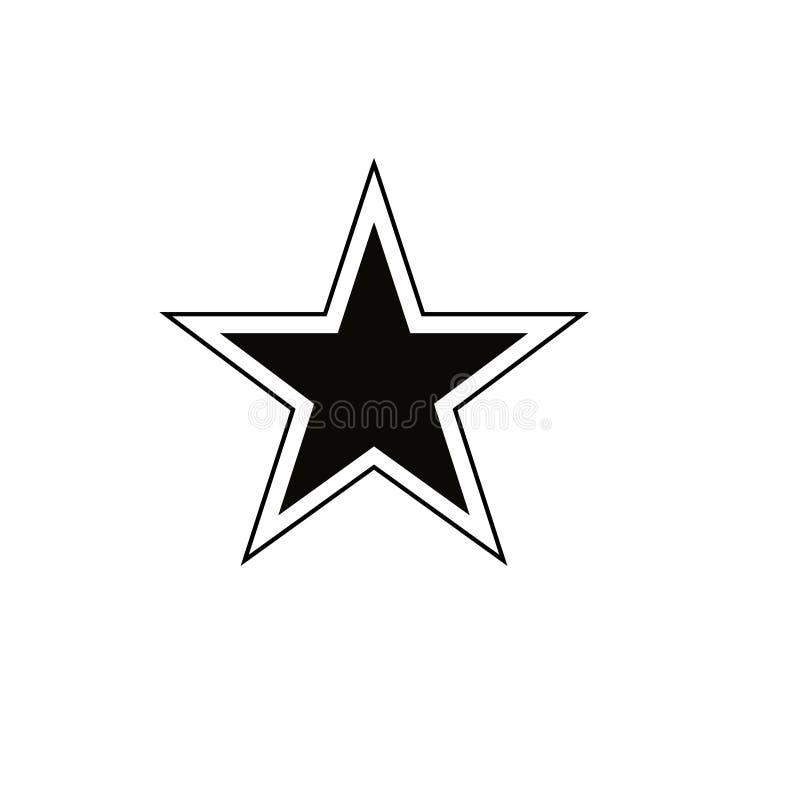 Gwiazdowy ikona wektor Ratingowy symbol dla sieć projekta - wektor royalty ilustracja