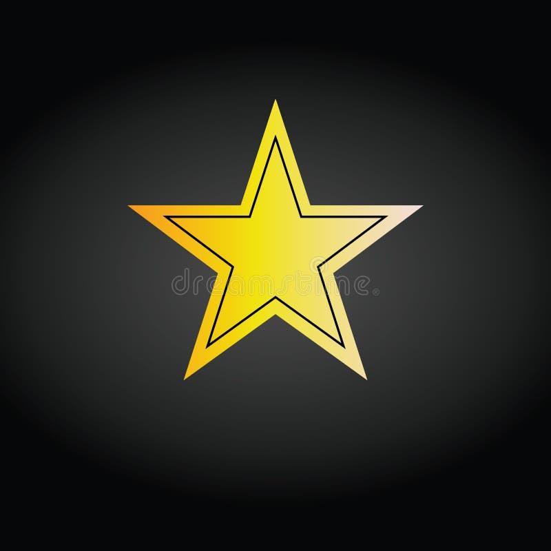 Gwiazdowy ikona wektor Ratingowy symbol dla sie? projekta - wektor ilustracji
