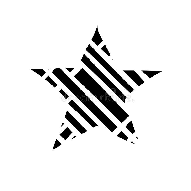 Gwiazdowy ikona wektor Ratingowy symbol dla sie? projekta - wektor royalty ilustracja