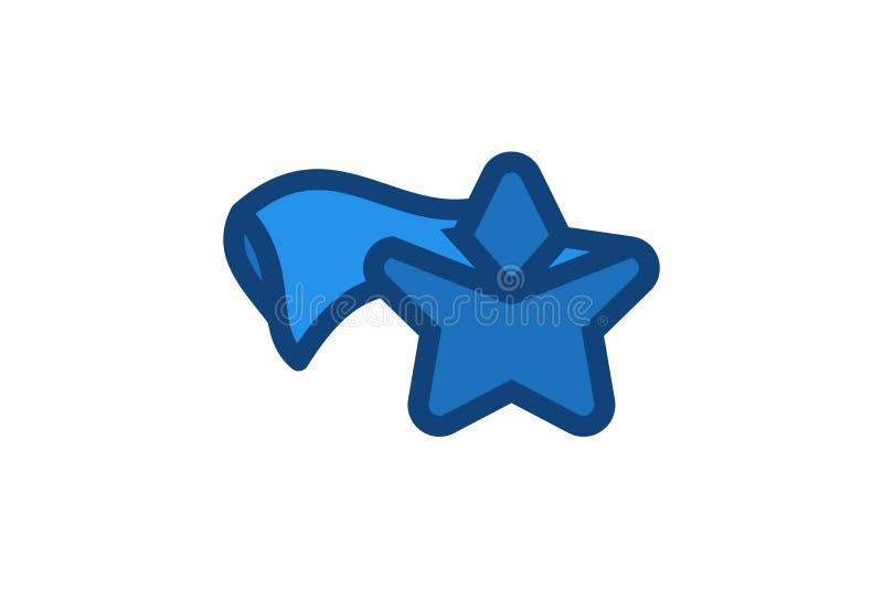 gwiazdowy latanie, super bohatera logo Projektuje inspirację Odizolowywającą na Białym tle ilustracja wektor
