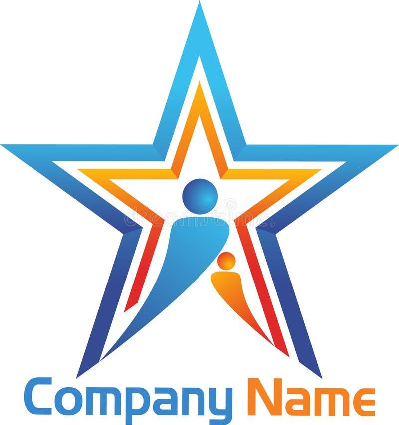 Gwiazdowy logo ilustracja wektor