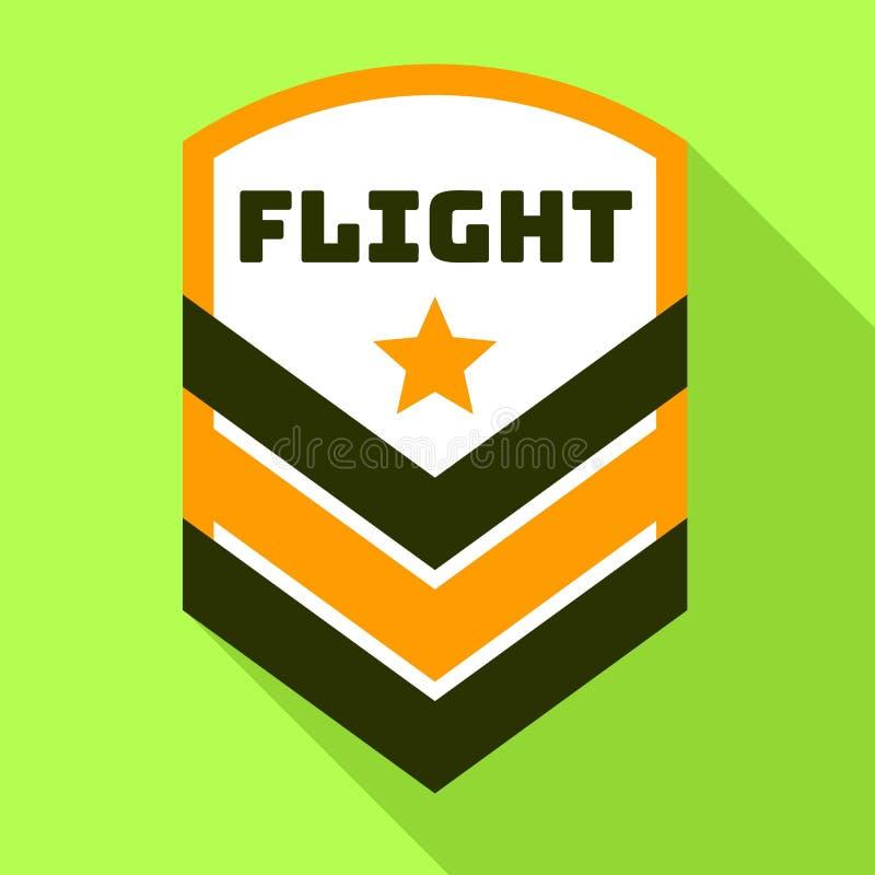 Gwiazdowy lota logo, mieszkanie styl ilustracji