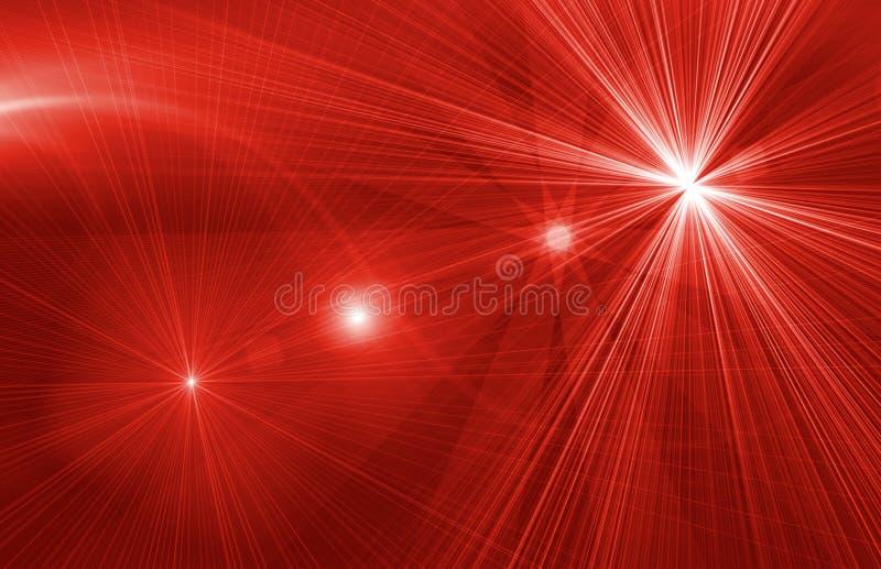 Gwiazdowy magiczny czerwony tło ilustracja wektor