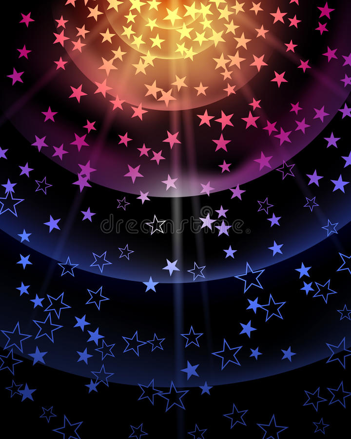 Gwiazdowy Partyjny tło ilustracji