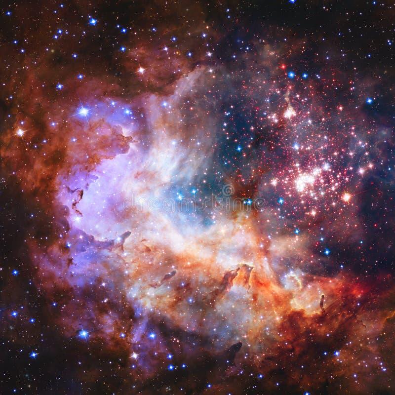 Gwiazdowy pole i mgławica w głębokiej przestrzeni Elementy ten wizerunek meblujący NASA ilustracji