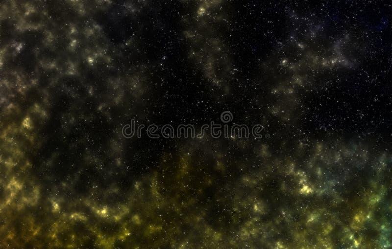 Gwiazdowy pole w głębokiej przestrzeni wiele lekcy rok daleko od ziemi ilustracji