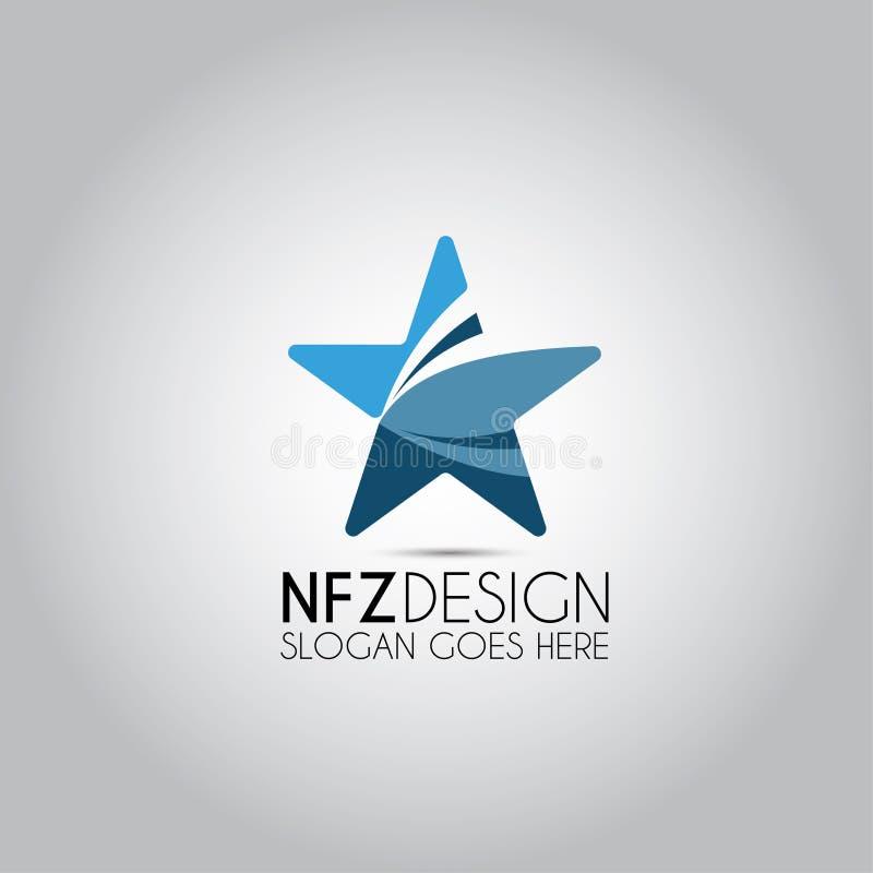 Gwiazdowy projekta wektoru logo ilustracja wektor