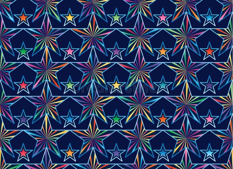 Gwiazdowy promień blisko łączy bezszwowego wzór royalty ilustracja