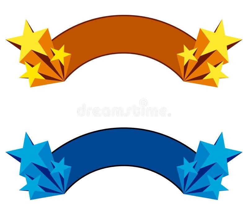 Gwiazdowy sztandar ilustracja wektor