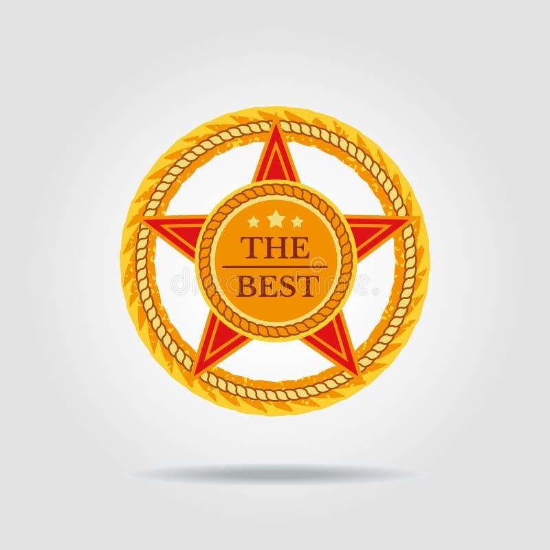 Gwiazdowy sztandaru tło royalty ilustracja