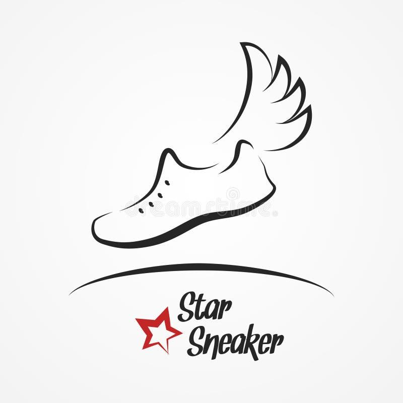 Gwiazdowy tenisówka logo royalty ilustracja