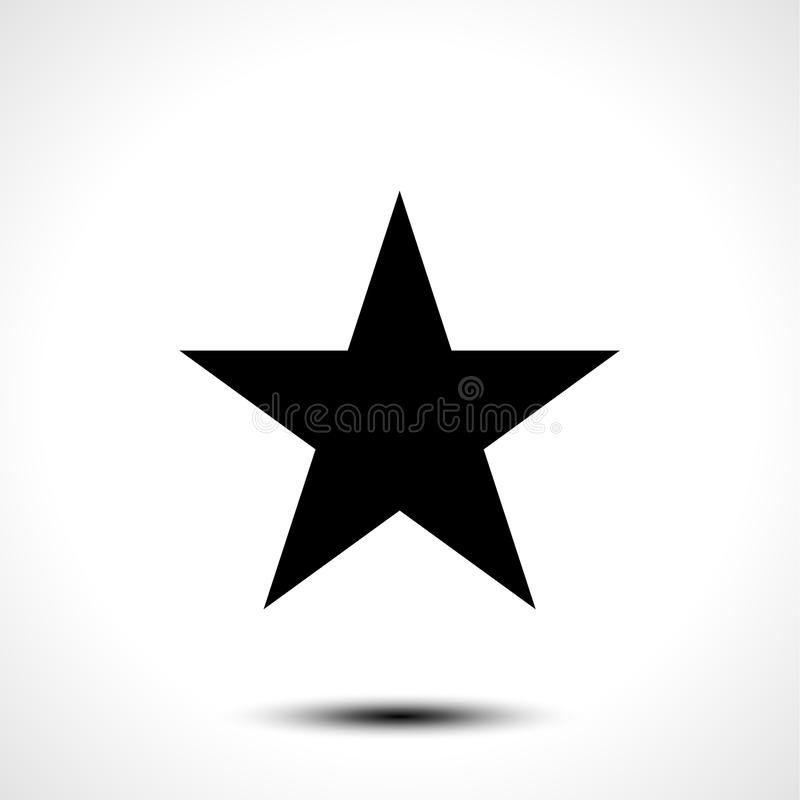 Gwiazdowy wektorowy kształt ikony symbol odizolowywający na białym tle ilustracji
