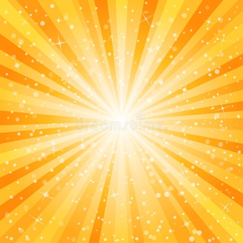 Gwiazdowy wybuchu tło ilustracji