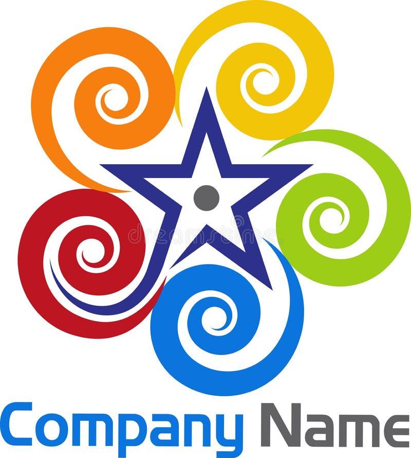 Gwiazdowy zawijasa logo royalty ilustracja